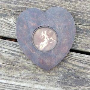 ❤️HP❤️Antique weathered wood heart-shaped frame